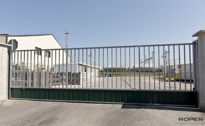 Puerta corredera cancela industrial roper - Puerta corredera industrial ...