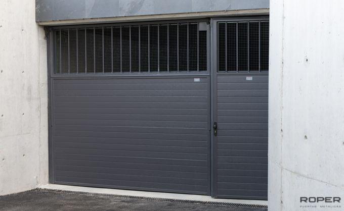 puerta de garaje basculante 2 hojas comunitaria roper