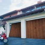 Puerta de Garaje Basculante Residencial 1 Hoja imitación madera