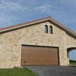 Puerta de Garaje Seccional Residencial imitación madera