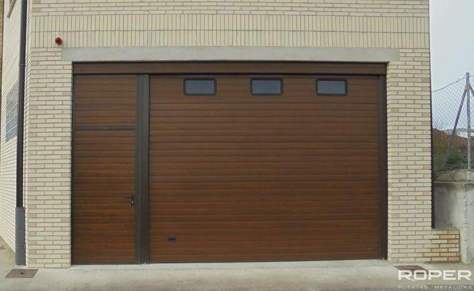 Puerta de garaje seccional residencial roper - Proyecto puerta de garaje ...