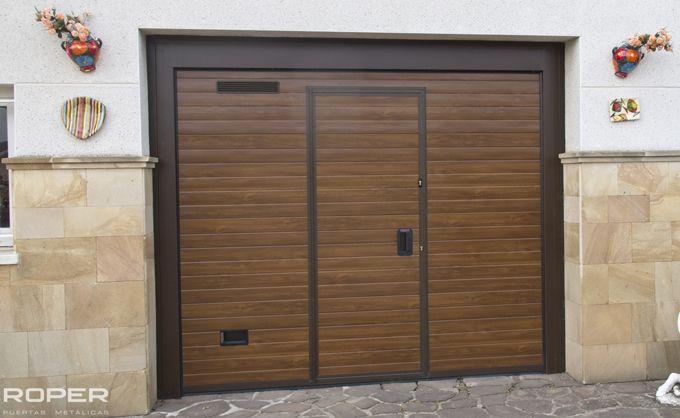 puerta de garaje seccional residencial roper