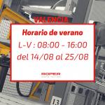 Horario de verano en la delegación de Valencia