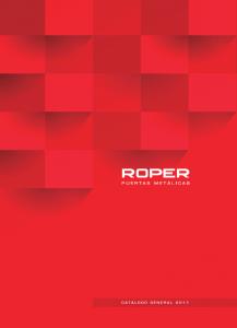 portada catálogo general roper