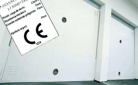 Marcado CE de nuestras puertas de garaje