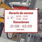 Horario de verano en la delegación de Asturias