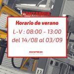 Horario de verano en la delegación de Cantabria