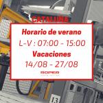 Horario de verano en la delegación de Cataluña