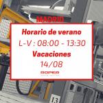 Horario de verano en la delegación de Madrid