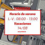 Horario de verano en la delegación de Zaragoza